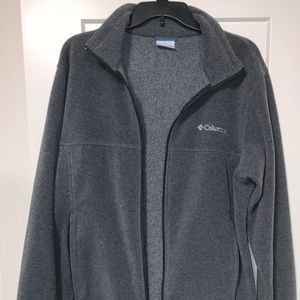 Columbia Grey Fleece Zipper Jacket